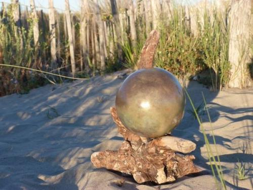 Sphère lustrée Raku